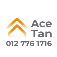 Ace Tan Property Agent Logo with mobile no 012 7761716